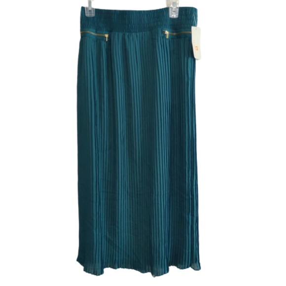 Metro Wear Dresses & Skirts - Metro Wear| Maxi Skirt Teal Green Pleated Long